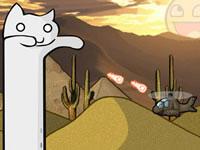 Jeu gratuit Catnarok - Longcat Rampage 2